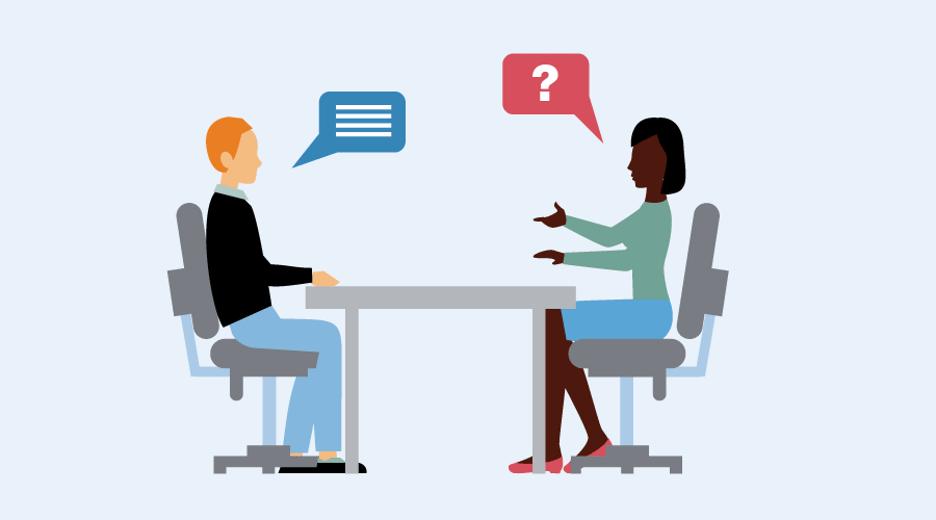 تكنيكات قسم المحادثة في اختبار المحادثة